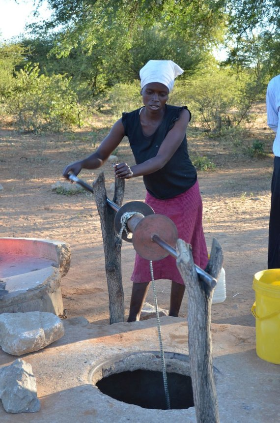 Building fountains in Zimbabwe