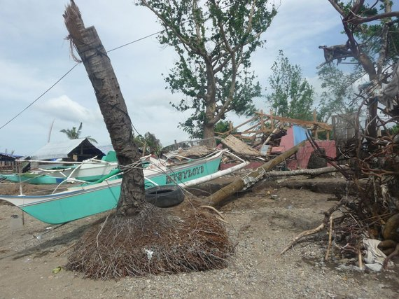 Destruction after typhoon Hayian in the Philippines