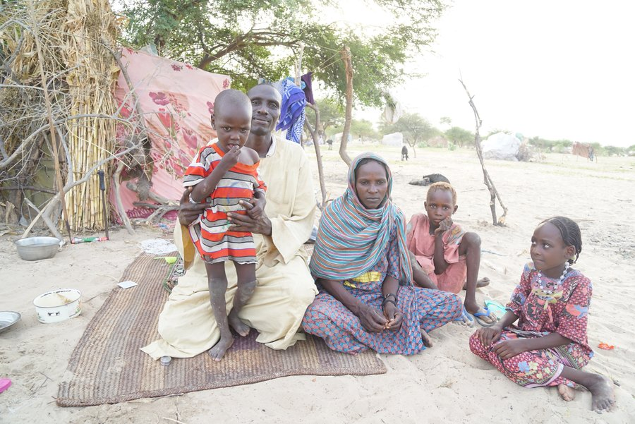 Refugee family in Chad