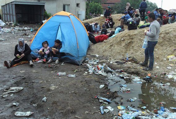 Refugee camp in Serbia