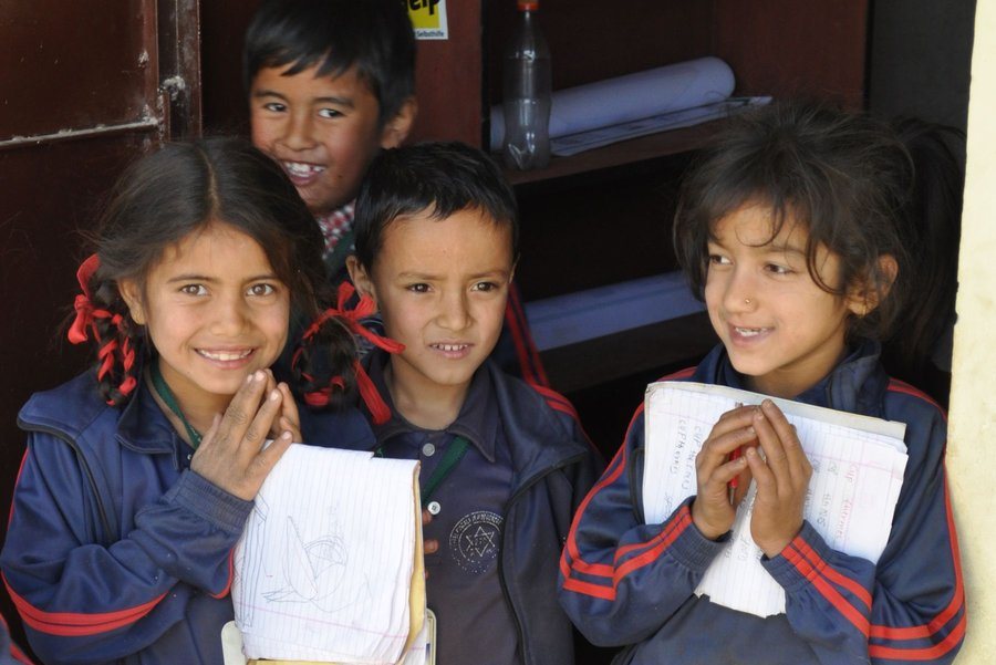 School kids in Nepal