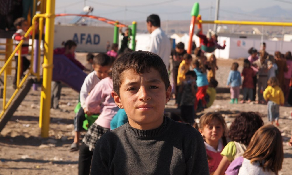 Refugee child in Iraq