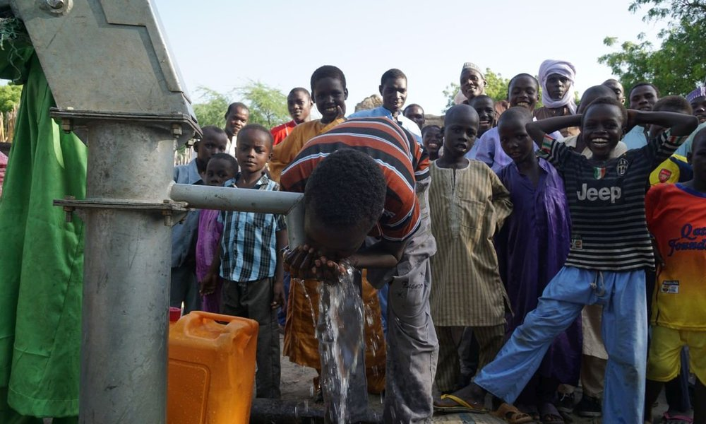 A well for refugees in Chad